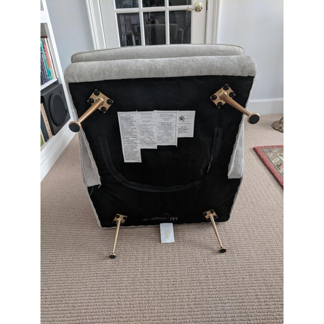 Mid-Century Modern Italian Style West Elm Wing Chair For Sale - Image 9 of 10