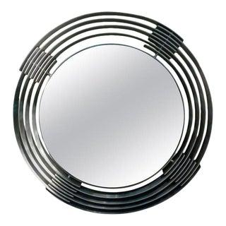 Italian Mid-Century Modern Aluminum Mirror by Paolo Rizzato For Sale