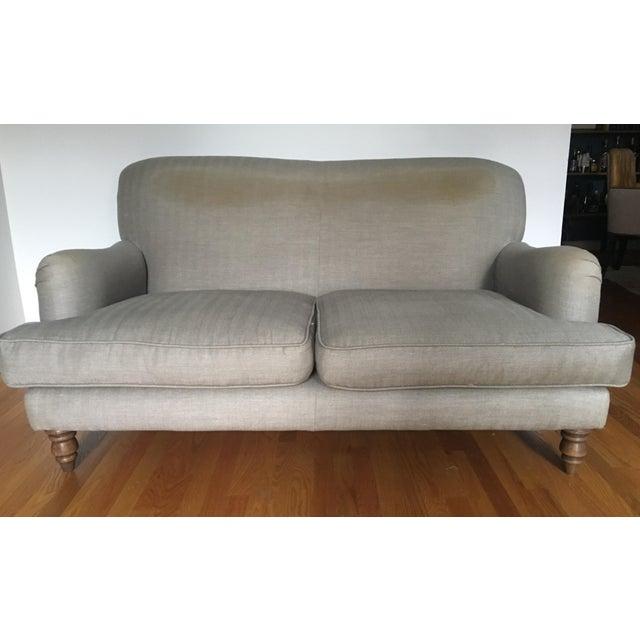 English Traditional English Roll Arm Sofa For Sale - Image 3 of 13