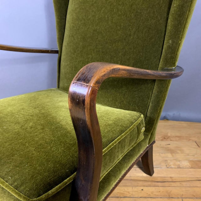 1950s Walter Knoll Mini Wingchair, Mohair, Germany For Sale - Image 11 of 12