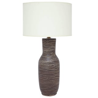 Design Technics Brown Pottery Table Lamp by Lee Rosen For Sale