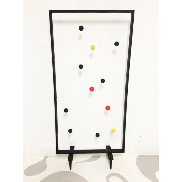 Mid-Century Modern Style Screen Room Divider - Image 2 of 7