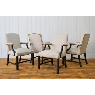 1970s Vintage Restored Kittinger Mahogany Chippendale Style Armchairs- Set of 8 Preview