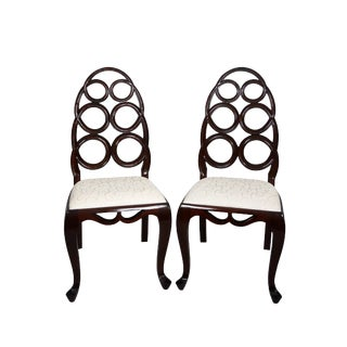 Alden Parkes Carlyle Side Chair- a Pair For Sale