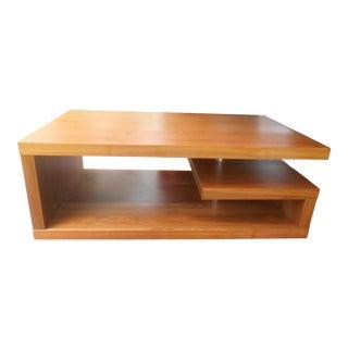 Mid-Century Danish Modern Teak Greek Key Coffee Table For Sale