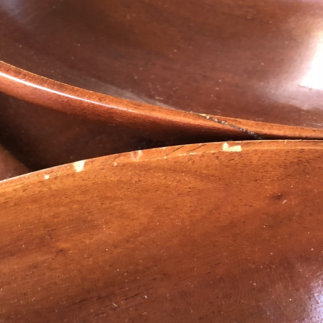 Mid-Century Modern Mahogany Lazy Susan For Sale In San Francisco - Image 6 of 7