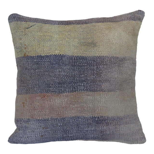 Turkish Distressed Rug Pillow For Sale