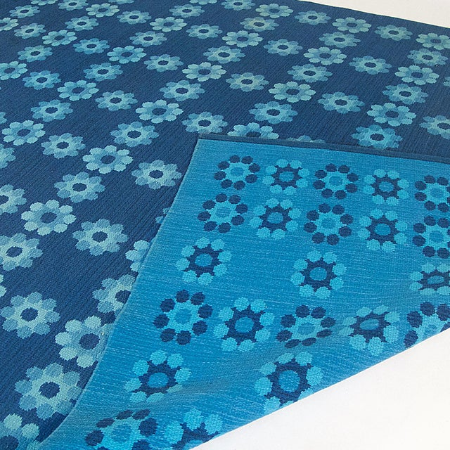 Swedish Signed Textile Carpet / Rug by Marta Afzelius with Vibrant Hues - Image 3 of 6