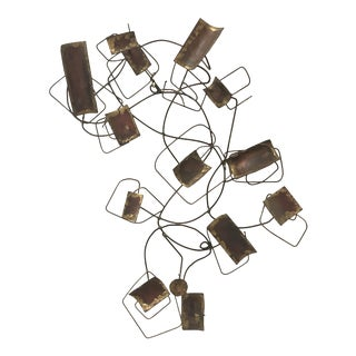 Mid-Century Brutalist Wire Wall Sculpture For Sale