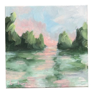 """Light on the Lake"" Original Painting by Alice Houston Miles For Sale"