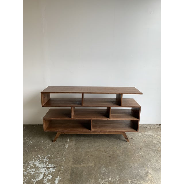 Mid-Century Modern Walnut Modern Book Case For Sale - Image 3 of 13