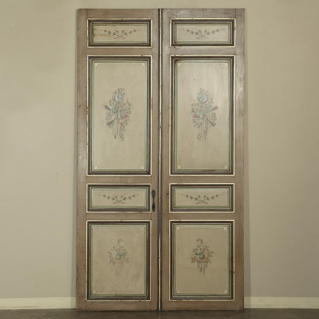 Pair 19th Century French Hand Painted Paneled Interior Doors For Sale - Image 13 of 13