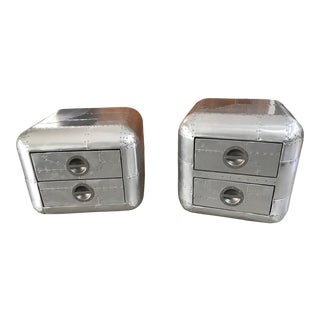 Modern Timothy Oulton Aviator Blackhawk Side Tables- A Pair For Sale