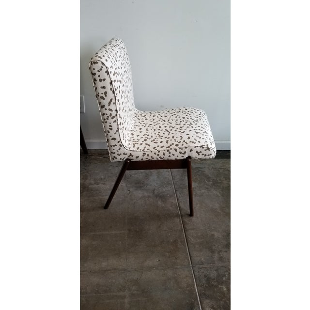 Modern Hollywood at Home Double Dotty Upholstered Dining Chairs- Set of 4 For Sale - Image 3 of 6