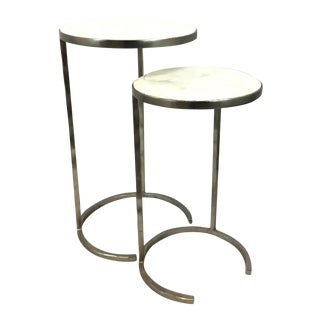 Regina Andrew Modern Faux Bone Nesting Tables Set of Two For Sale