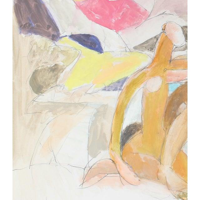Figures in a Pastel Landscape by Gerald Wasserman - Image 2 of 2