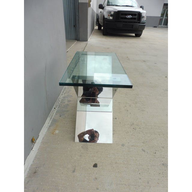 Glass Contemporary J. Robert Scott High End Custom Made Exxus Table For Sale - Image 7 of 10