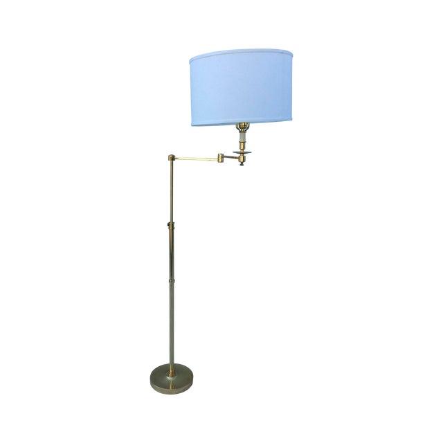 Vintage 1970s English Modern Brass Floor Lamp - Image 1 of 11