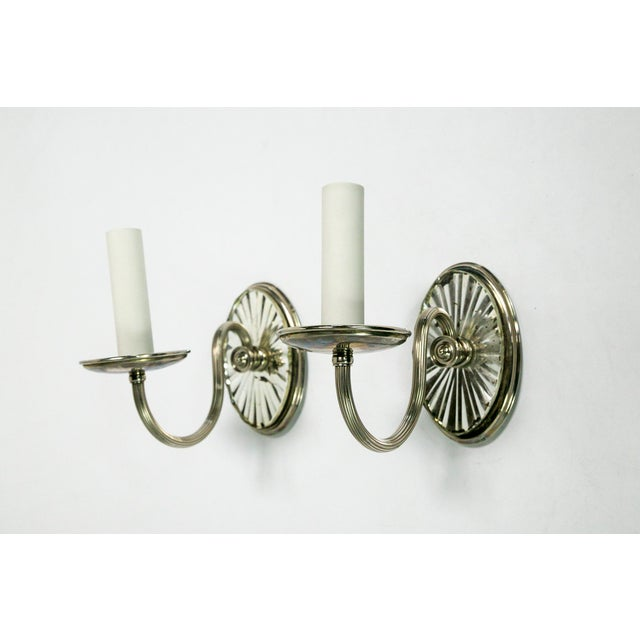 Brass Caldwell Mirrored Silver Sconces (pair) For Sale - Image 7 of 7
