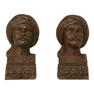 c.1880 French Figural Andirons/Bookends - a pair