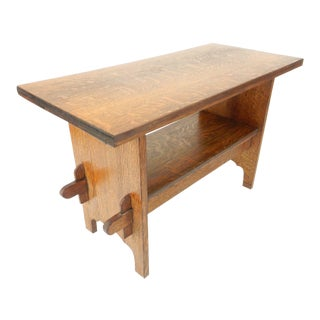 Pennsylvanian Mission Arts & Crafts Library Table