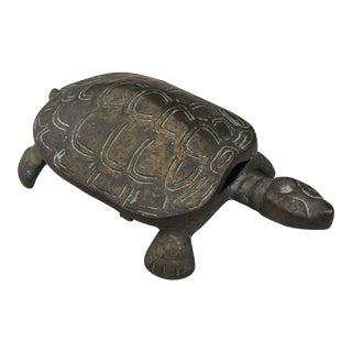 Mid-Century Solid Brass Turtle Box