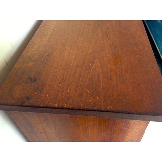 Rustic Vintage Oak Cabinet For Sale In Seattle - Image 6 of 7