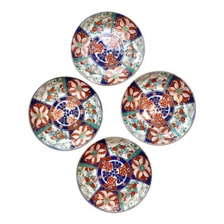 Hand Painted Imari Plates - Set of 4 For Sale