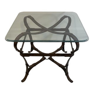 Hermes Equestrian Iron Strap Side Table For Sale