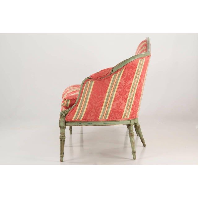 A stunning piece with relentless curves against distinctive angularity, this gorgeous French antique Louis XVI period...
