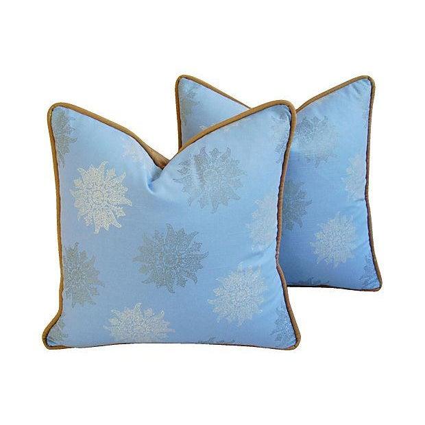 Designer Iman Lamu Twilight Aegean Pillows - Pair - Image 1 of 7