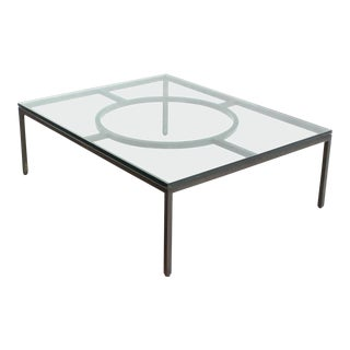 Mid-Century Modern Wide Rectangle Coffee Table For Sale