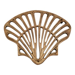 Brass Trivet Shell Motif For Sale
