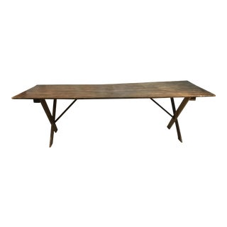 19th Century Wooden Farm Table For Sale