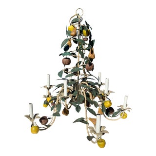 Italian Fruit Laden Chandelier, Circa 1960 For Sale