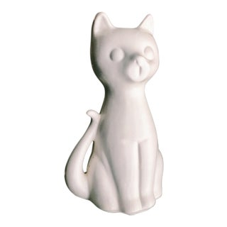 Vintage Hull Pottery White Ceramic Cat Vase