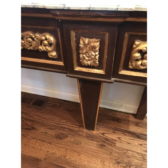 Antique Narrow Neoclassical Italian Console Table For Sale - Image 10 of 12