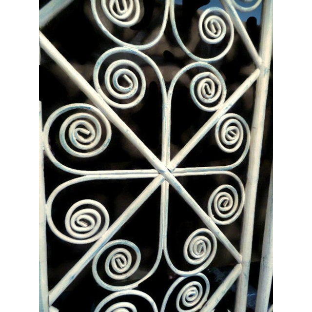 1960s Vintage Peacock Curl Bamboo Swinging Doors / Entryway or Closet Doors - a Pair For Sale - Image 5 of 8