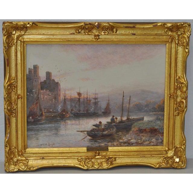 "Stuart Lloyd ""Banks of the Seiont River"" Original Watercolor c.1900 For Sale - Image 4 of 4"