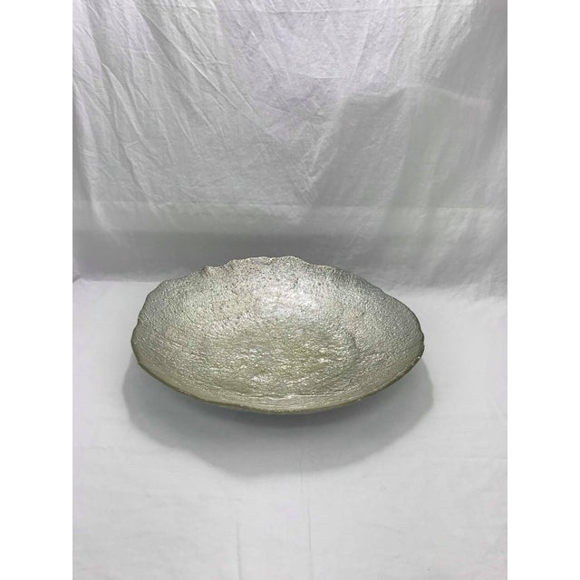 Art Glass Oversized Silverleaf Glass Centerpiece For Sale - Image 7 of 7