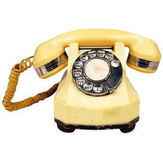 Catalin Mono-Phone Telephone with Chrome Accents For Sale