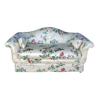Vintage Baker Furniture Regency Style Floral Sofa For Sale