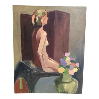 Late 20th Century Acrylic Nude Painting For Sale
