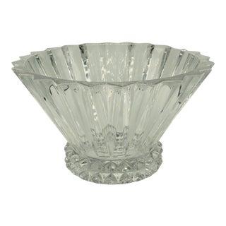 German Brutalist Crystal Centerpiece Fruit Bowl For Sale