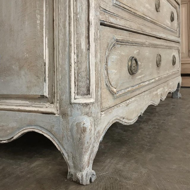 Late 18th Century 18th Century Country French Painted Commode For Sale - Image 5 of 13