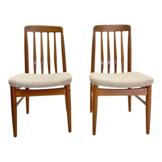 Benny Linden Teak Dining Chairs - a Pair For Sale