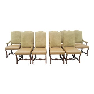 French Style Dining Chairs - Set of 10 Including Pair of Armchairs. For Sale