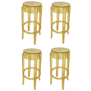 "Vintage P. Starck Model ""Ghost"" Stools -- Set of 4 For Sale"