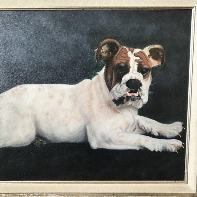 This portrait of a beloved bulldog is everything! We love it so much not only for its subject matter (as you know we love...