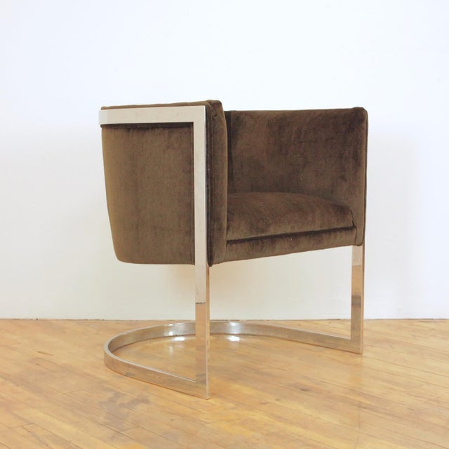 1970s Vintage Metropolitan Barrel Lounge Chairs - a Pair For Sale - Image 10 of 11